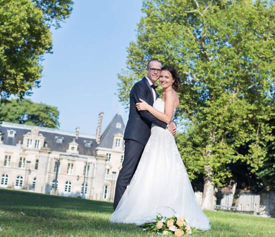 Portraits des mariés - Sandrine Sérafini - Photographe de mariage dans l'Oise - Château d'Aramont de Verberie