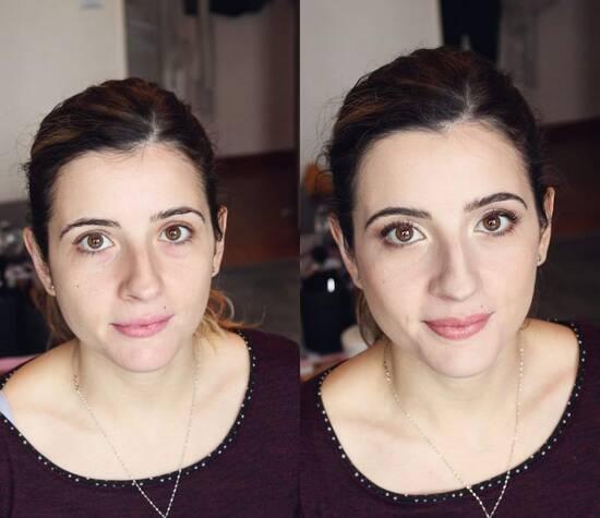Avant / Après Maquillage mariée