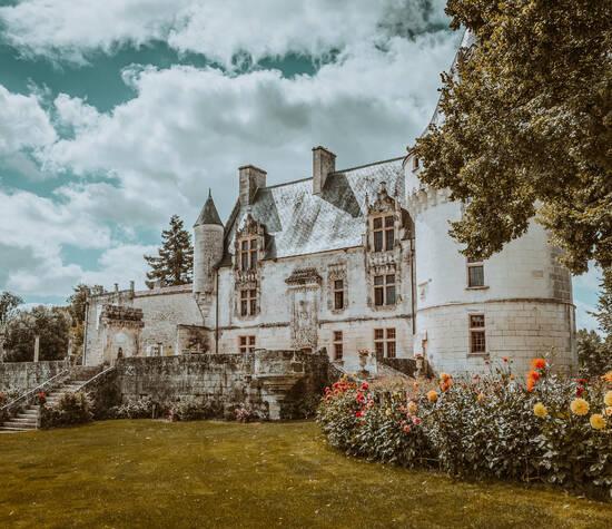 Dahlia et château