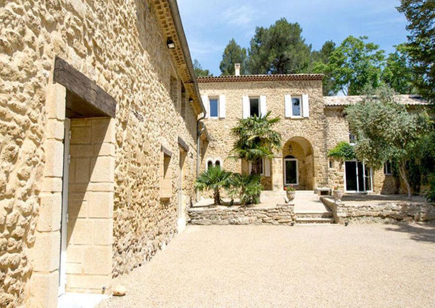 Abbaye du Grand Gigognan : offrez-vous une parenthèse authentique en Provence pour votre mariage