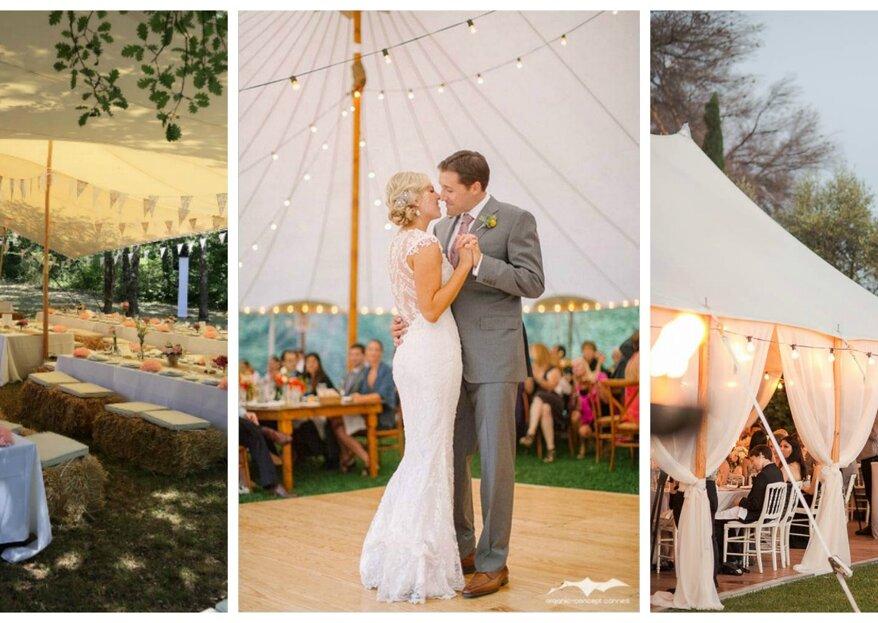 Cover Events : des tentes nomades et silhouettes pour un mariage sublime en extérieur et à l'abri des déconvenues !