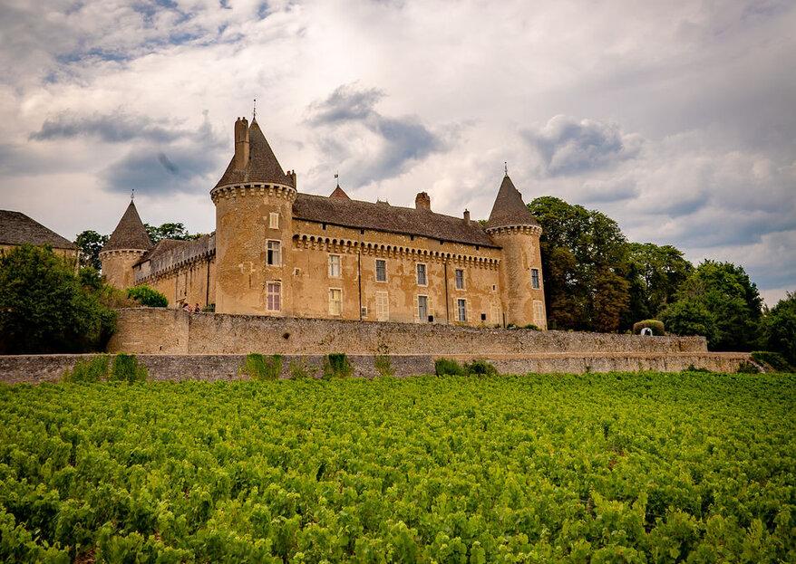 Célébrez un mariage romantique et champêtre au milieu des vignes, au Château de Rully