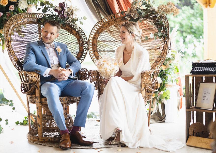 Inspiration bohème-chic : le mariage de Lore et Alex
