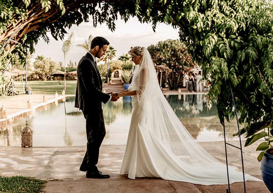 Mariage aux Jardins d'Issil à Marrakech : dépaysement garanti dans ce cadre atypique et apaisant
