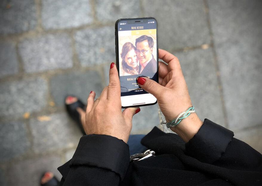 Merci les Amoureux : une application originale pour partager toutes les photos de votre mariage !