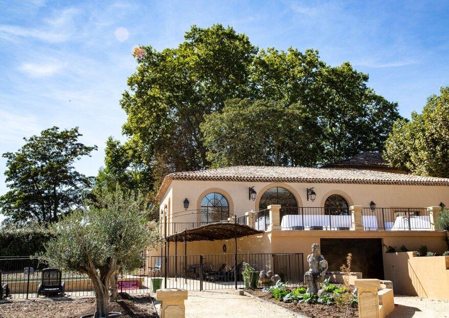 Entre authenticité et charme provençal, le Domaine de Valbrillant vous promet un mariage des plus romantiques
