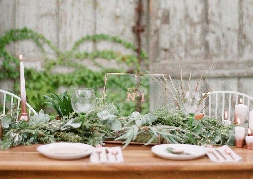 Utiliser des feuillages pour une décoration de mariage : une ambiance fraîche et intemporelle !