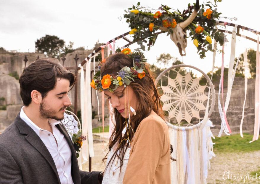 Comment décorer un mariage bohème en 5 étapes