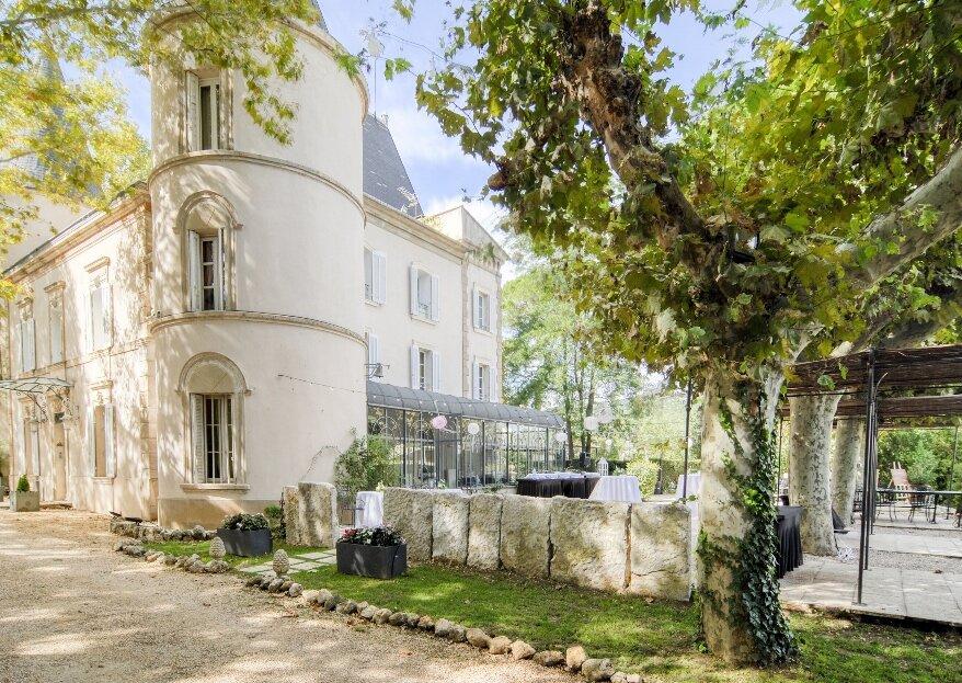 Prestige et authenticité au programme de votre mariage au Château de Nans
