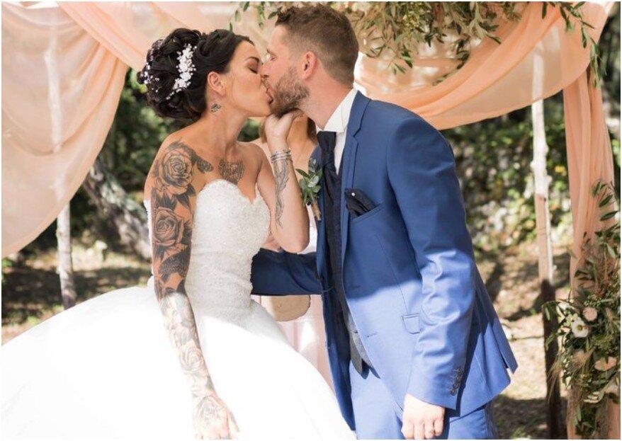 Mariée tatouée : 4 conseils d'expert pour choisir sa robe de mariage