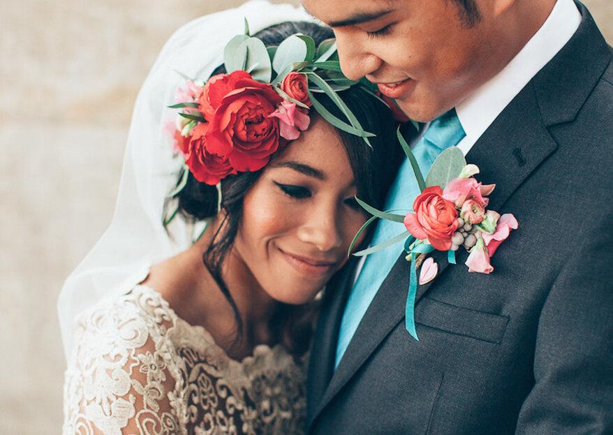 Comment accorder sa robe de mariée au costume du marié en 5 étapes