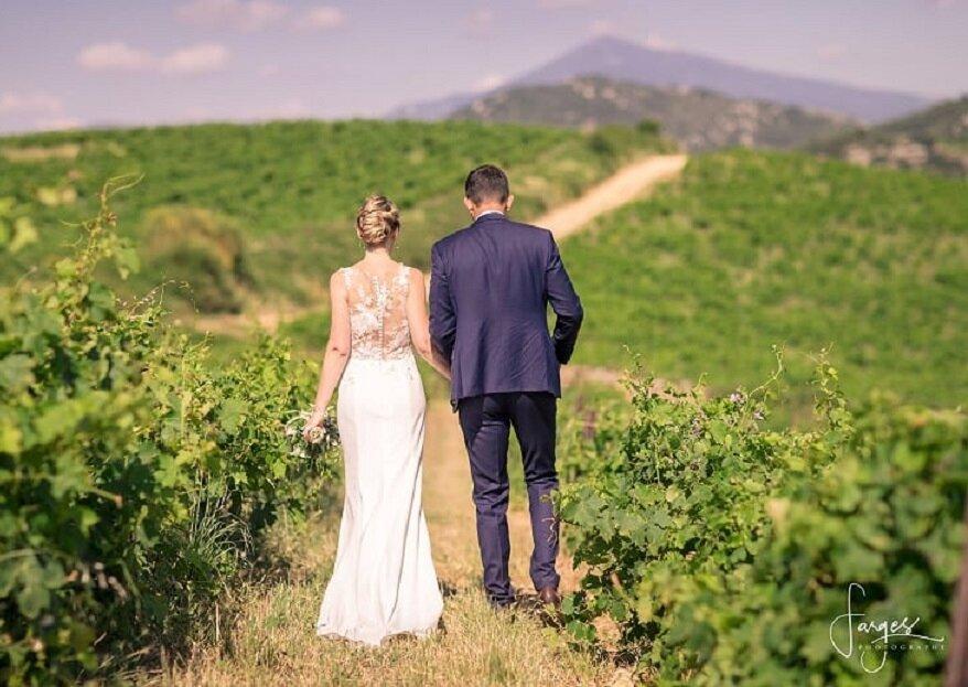 Le Domaine de Coyeux : un décor de carte postale pour un mariage au coeur d'un vignoble