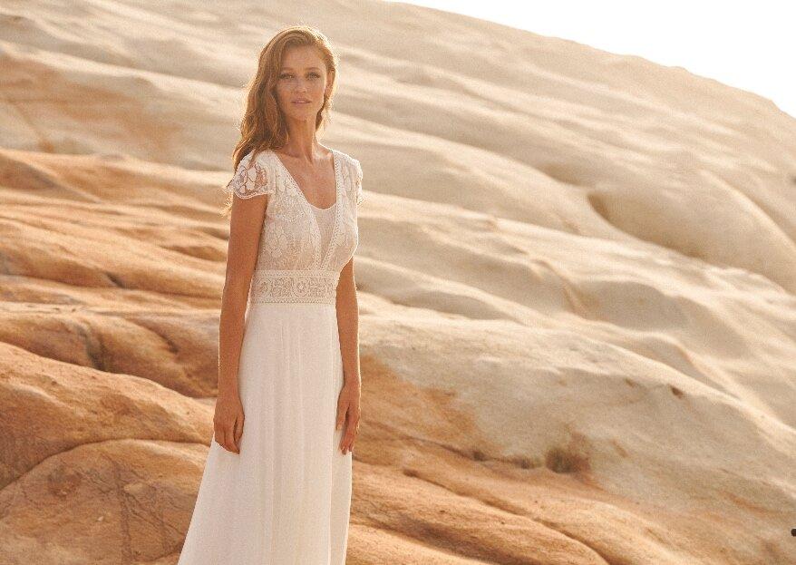 Du 27/08/2020 au 26/10/2020, tentez de gagner une robe de mariée Rembo Styling ou Marylise avec Printemps Listes