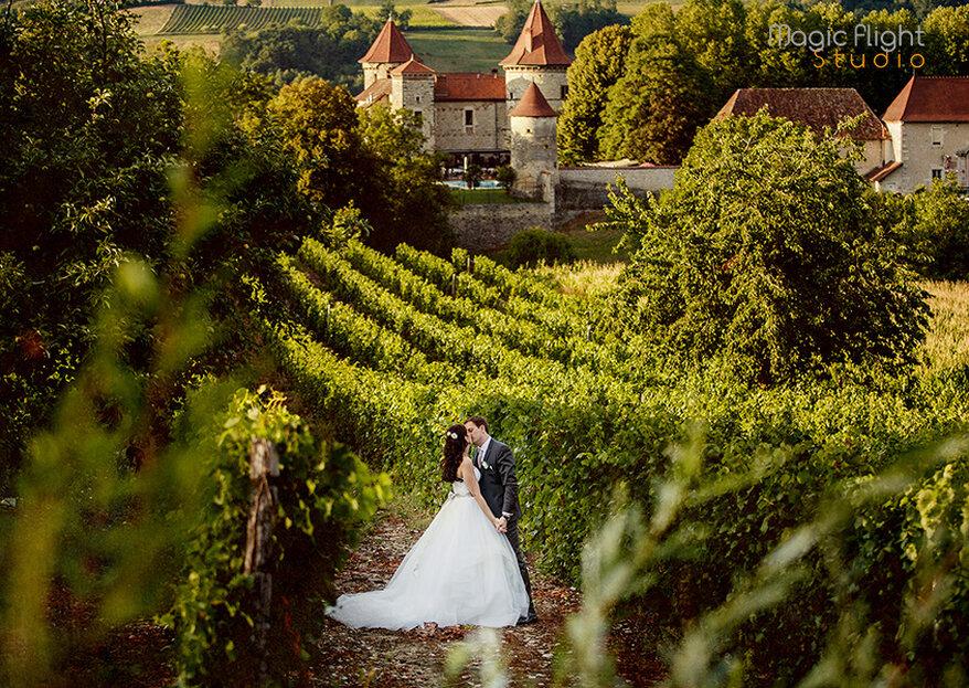 Organisez votre mariage dans un cadre féerique et enchanteur au Château de Chapeau Cornu