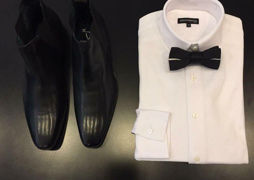 Osez le costume coloré pour votre mariage avec le créateur de mode Pierre Talamon