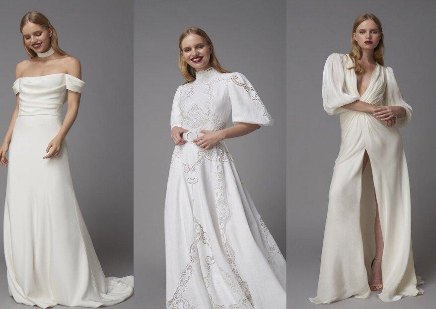 Retrouvez les nouveautés Costarellos au Printemps Mariage, des robes de mariée plus séduisantes que jamais