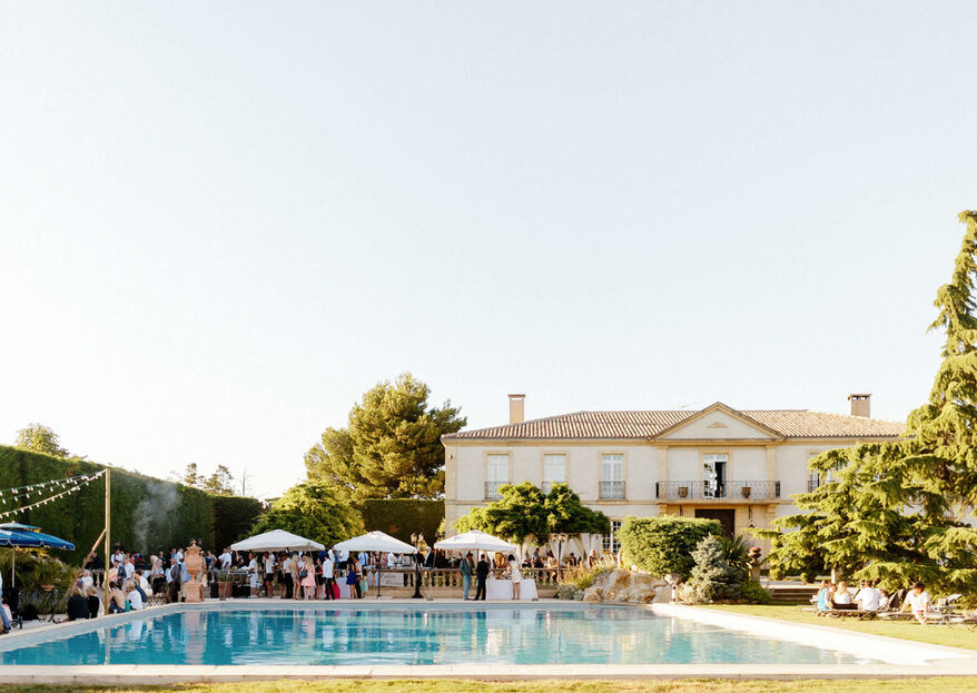 Organiser votre beau jour dans un lieu de réception avec une piscine