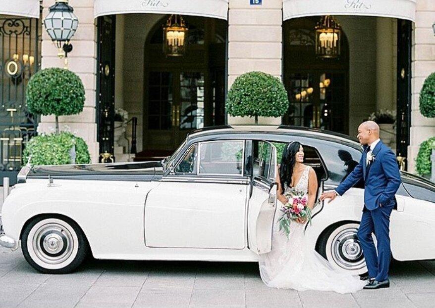 Andromide Cab : marquez les esprits en arrivant à votre mariage à bord d'une voiture de luxe !